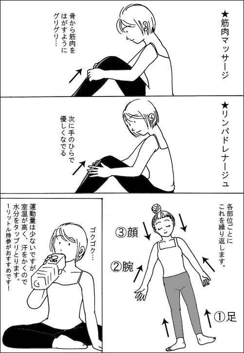 LAVAリンパリフレッシュヨガの口コミ漫画