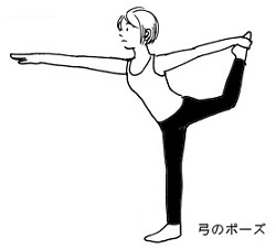 LAVA美脚ヨガの弓のポーズ画像