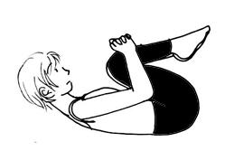 ヨガ・赤ちゃんのポーズ