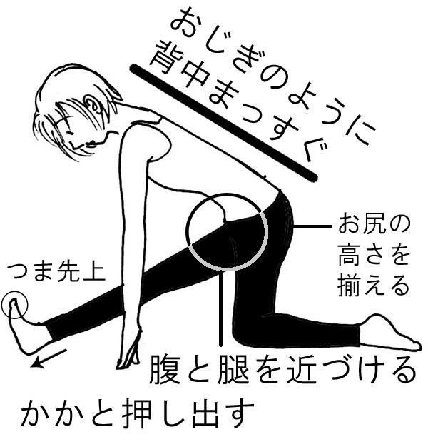 ヨガポーズ・ハーフスプリット