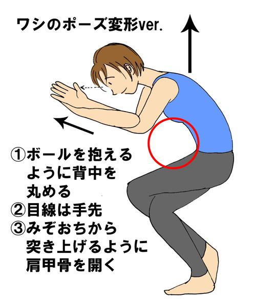 肩こり解消ストレッチ・ワシのポーズ変形